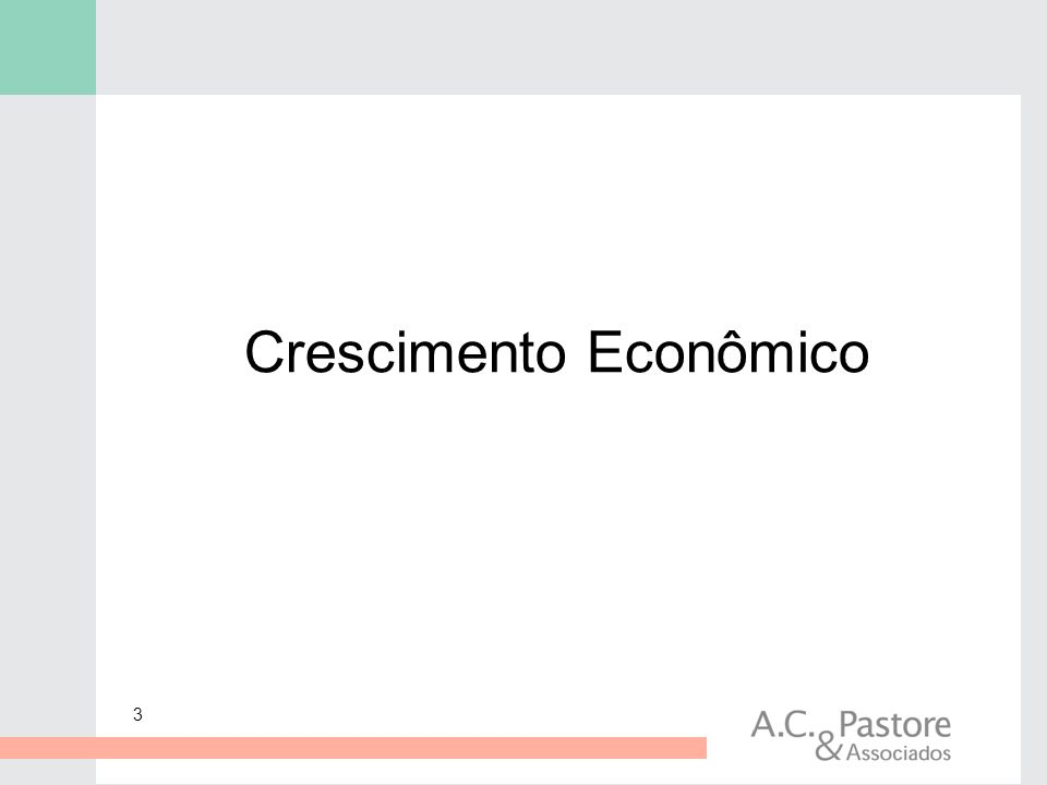 3 Crescimento Econômico