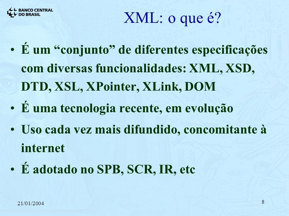 21/01/2004 8 XML: o que é.