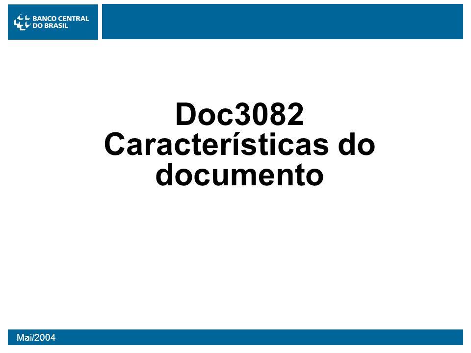 Mai/2004 Doc3082 Características do documento