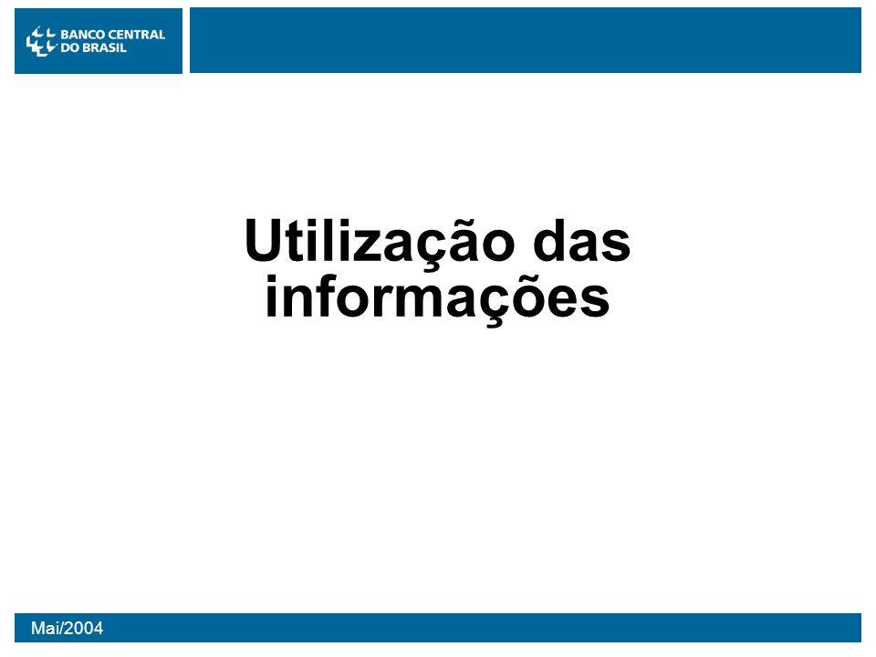 Mai/2004 Utilização das informações
