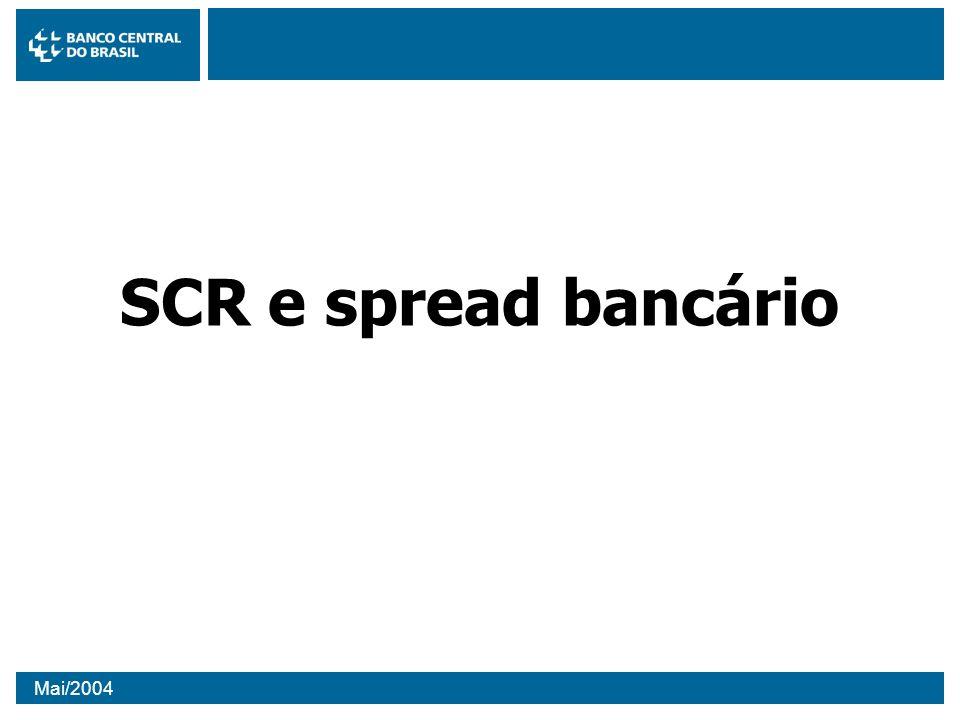 Mai/2004 SCR e spread bancário