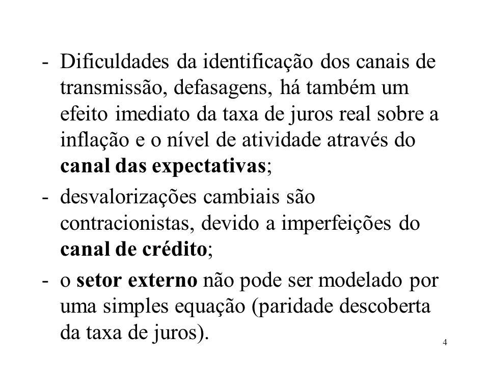 25 -problemas práticos: endogeneidade (estamos estimando a oferta ou a demanda?); -solução: utilizar Método dos Momentos Generalizados; -variáveis instrumentais: renda agregada e inadimplência.