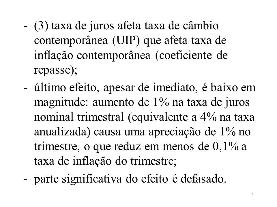18 Resultados obtidos: Mecanismos de Transmissão da Política Monetária I: evidência do canal das expectativas, Carta Econômica Galanto jan/03