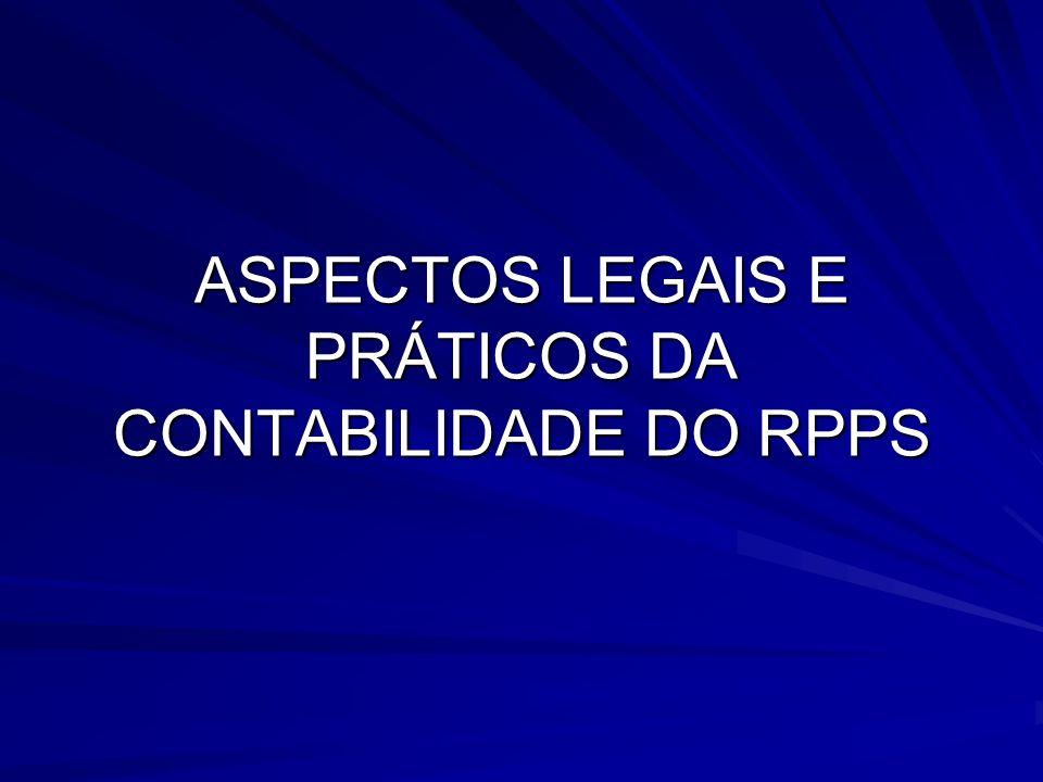 Legislação aplicada aos RPPS Emenda Constitucional 20, de 15/12/1998; Emenda Constitucional 41, de 19/12/2003; Emenda Constitucional 47, de 05/07/2005; Lei Complementar 101, de 04/05/2000; Lei 9717, de 27/11/1998; Lei 9796, de 05/05/1999; Lei 10887, de 18/06/2004; Portaria MPS 916, DE 15/07/2003; Portaria MPS 204, DE 10/07/2008; Portaria MPS 402, de 10/12/2008; Portaria MPS 403, de 10/12/2008; Resolução CMN 3922, de 25/11/2010; Lei 4320/64.