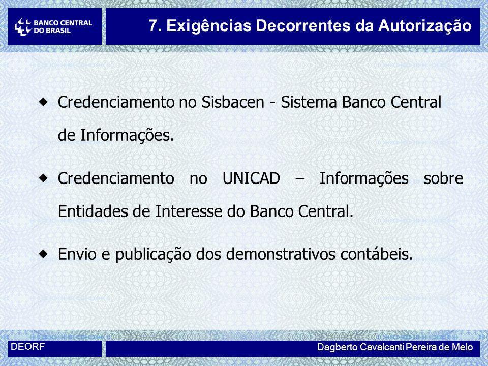 Credenciamento no Sisbacen - Sistema Banco Central de Informações. Credenciamento no UNICAD – Informações sobre Entidades de Interesse do Banco Centra