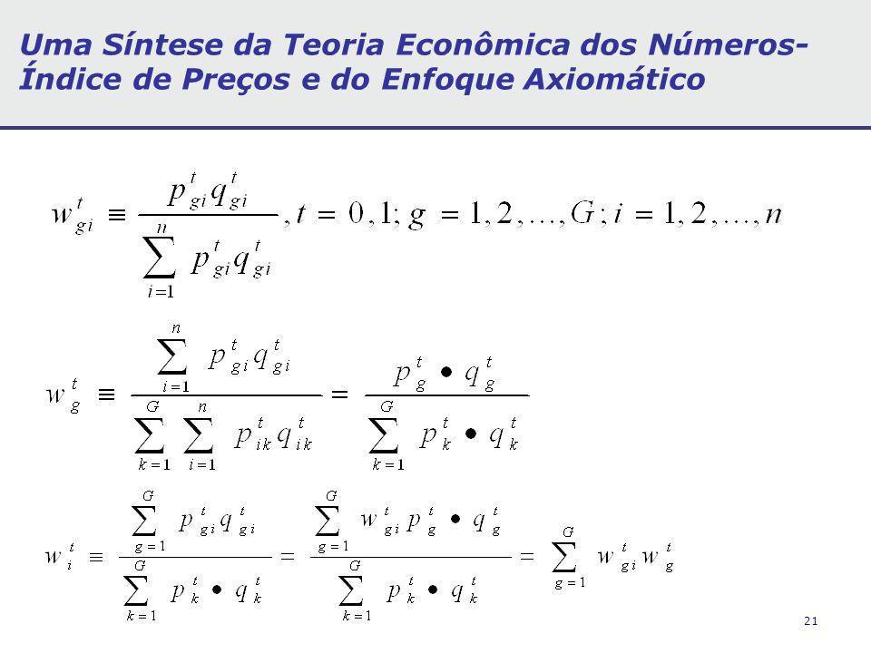 21 Uma Síntese da Teoria Econômica dos Números- Índice de Preços e do Enfoque Axiomático