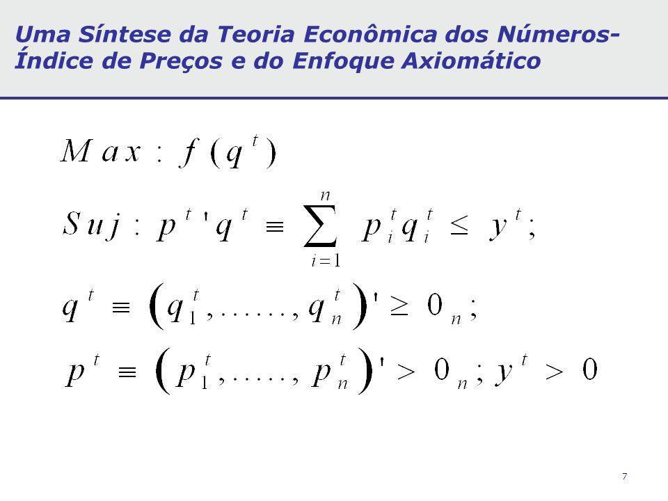 7 Uma Síntese da Teoria Econômica dos Números- Índice de Preços e do Enfoque Axiomático