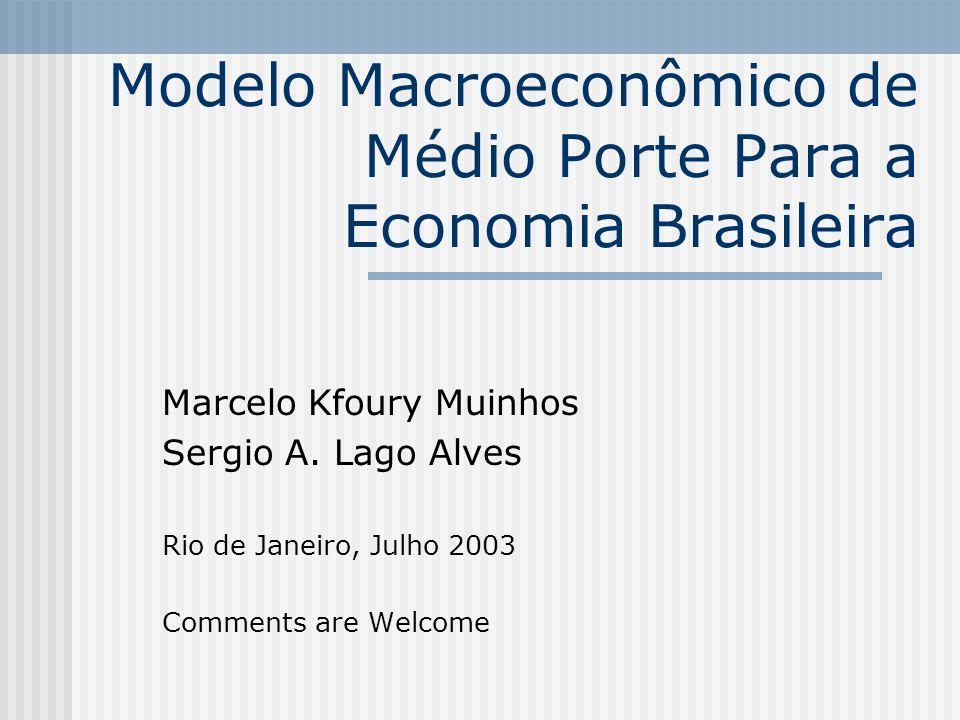 Modelo Macroeconômico de Médio Porte Para a Economia Brasileira Marcelo Kfoury Muinhos Sergio A.