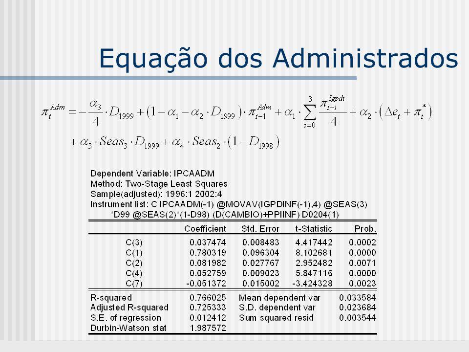 Equação dos Administrados