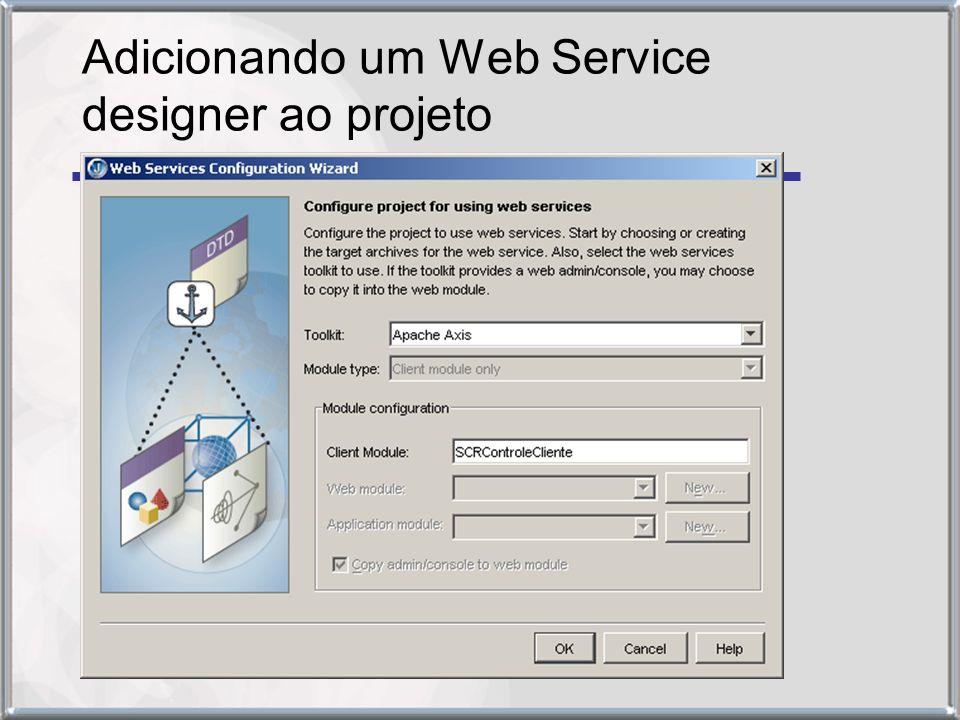 Adicionando um Web Service designer ao projeto