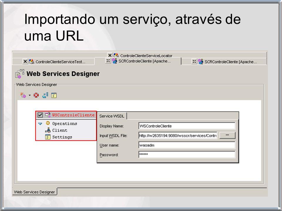 Importando um serviço, através de uma URL