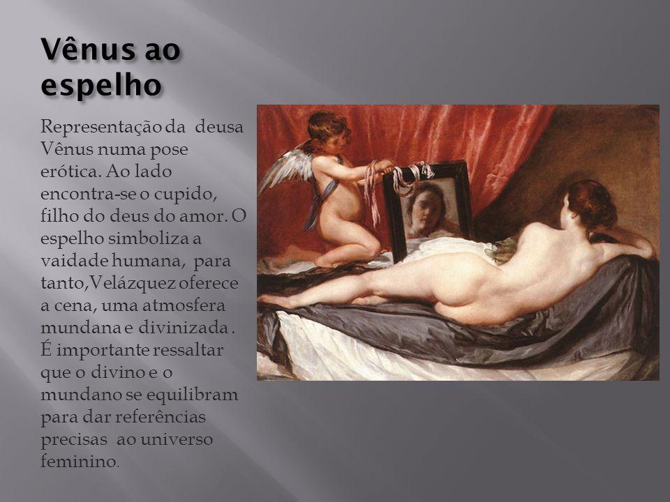 Vênus ao espelho Representação da deusa Vênus numa pose erótica.