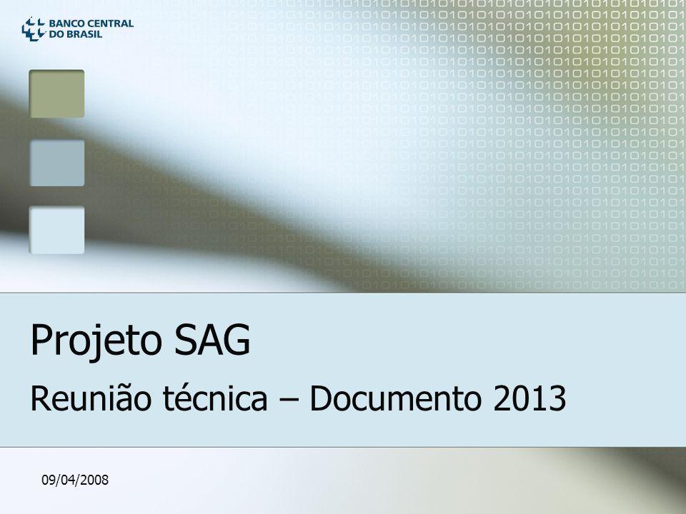 09/04/2008 Projeto SAG Reunião técnica – Documento 2013