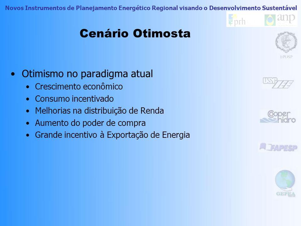 Novos Instrumentos de Planejamento Energético Regional visando o Desenvolvimento Sustentável Previsão de Demanda / Distribuição de Renda