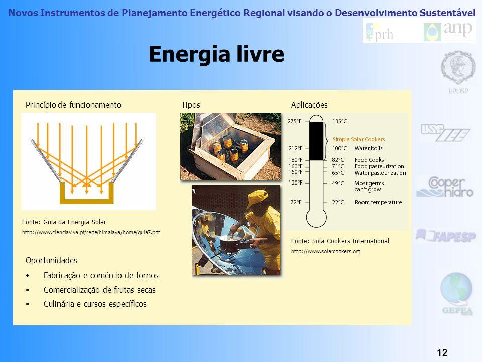 Novos Instrumentos de Planejamento Energético Regional visando o Desenvolvimento Sustentável 11 Conceito de Recurso Energético Recurso Livre Correspon