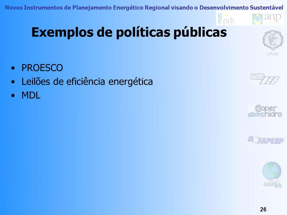 Novos Instrumentos de Planejamento Energético Regional visando o Desenvolvimento Sustentável 25 Como conciliar interesses políticos? Identificar inter