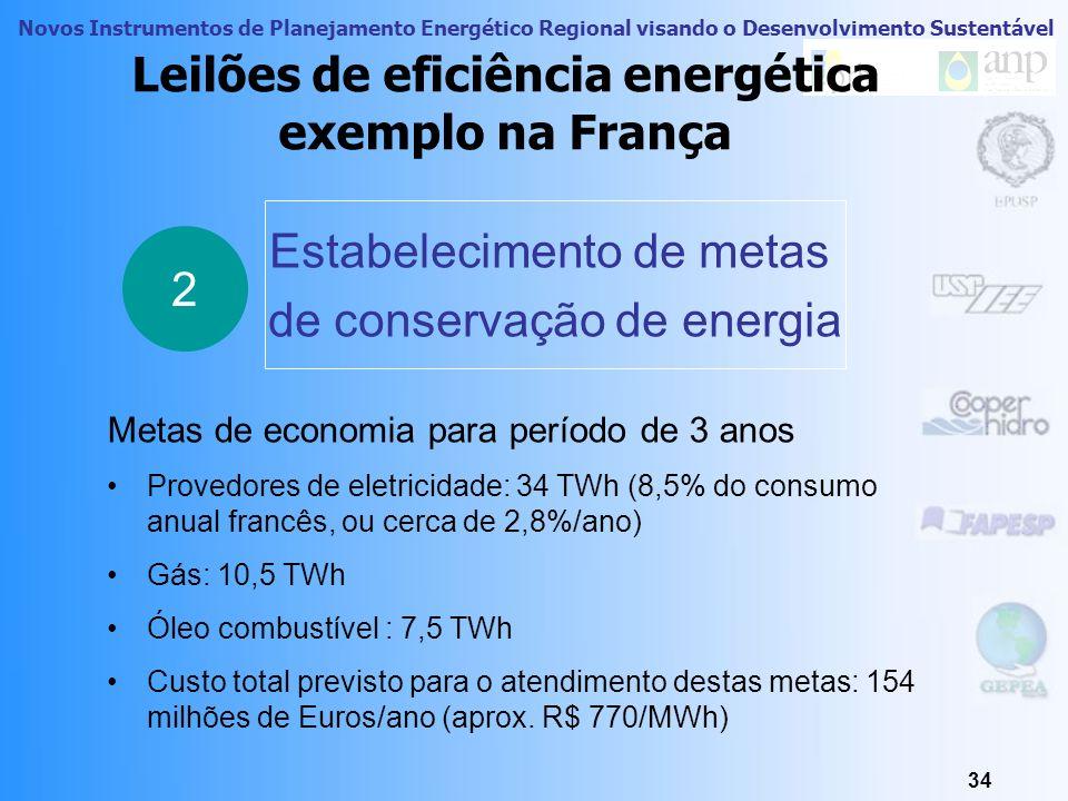 Novos Instrumentos de Planejamento Energético Regional visando o Desenvolvimento Sustentável 33 Leilões de eficiência energética como funciona Definiç