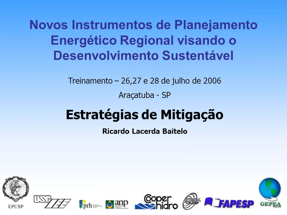 Novos Instrumentos de Planejamento Energético Regional visando o Desenvolvimento Sustentável Mecanismos de Desenvolvimento Limpo - MDL Ricardo Lacerda Baitelo 11 Barreiras do Seqüestro de Carbono For activities that involve land-use changes (from pasture to forest) it may be very difficult, to distinguish with present scientific tools that portion of the observed stock change that is directly human-induced from that portion that is caused by indirect and natural factors.