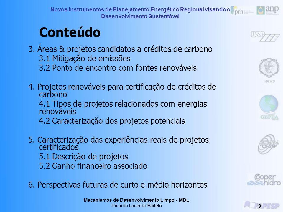 Estratégias de Mitigação Ricardo Lacerda Baitelo Treinamento – 26,27 e 28 de julho de 2006 Araçatuba - SP Novos Instrumentos de Planejamento Energétic