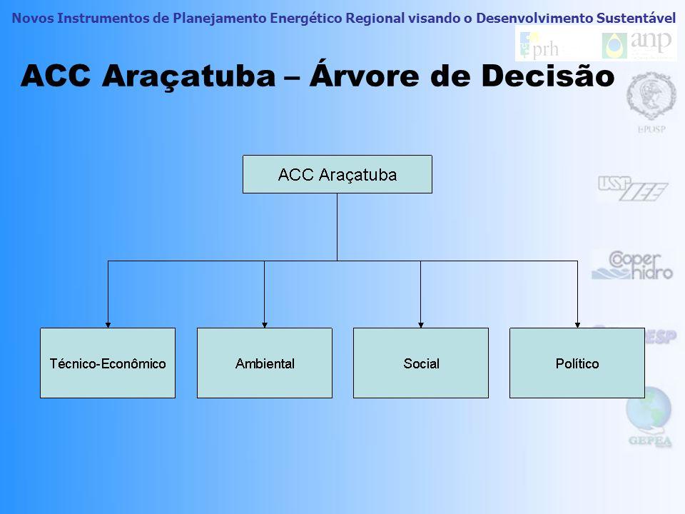 Novos Instrumentos de Planejamento Energético Regional visando o Desenvolvimento Sustentável Passos para a Construção do Ranking Determinação da árvor