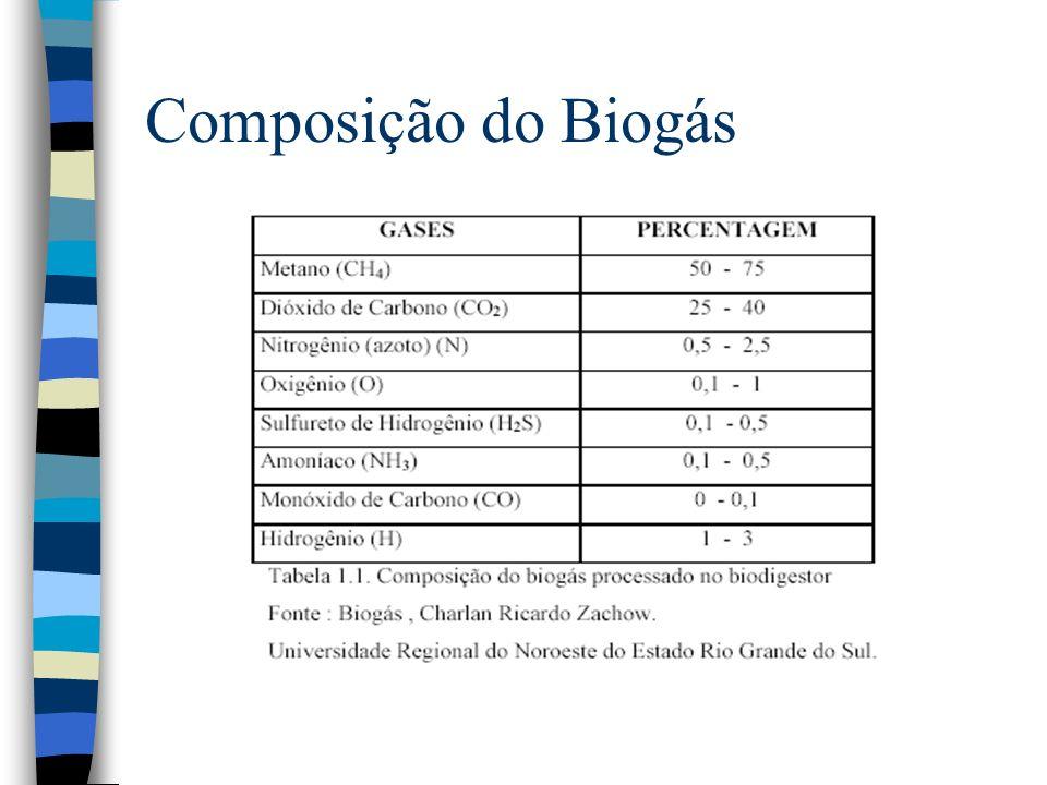 Composição do Biogás