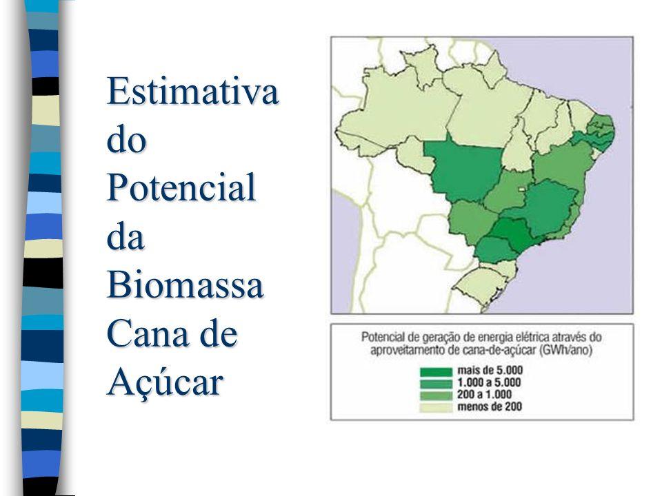 Estimativa do Potencial da Biomassa Cana de Açúcar