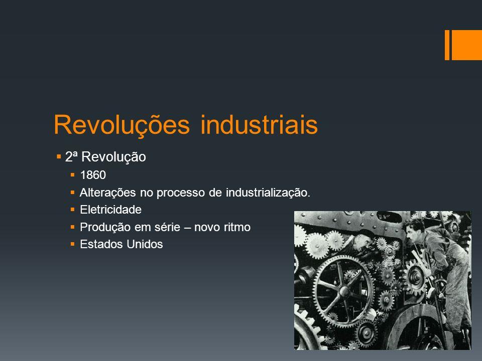 Revoluções Industriais 3ª Revolução 1970 Tecnologia, eletrônica, informática.