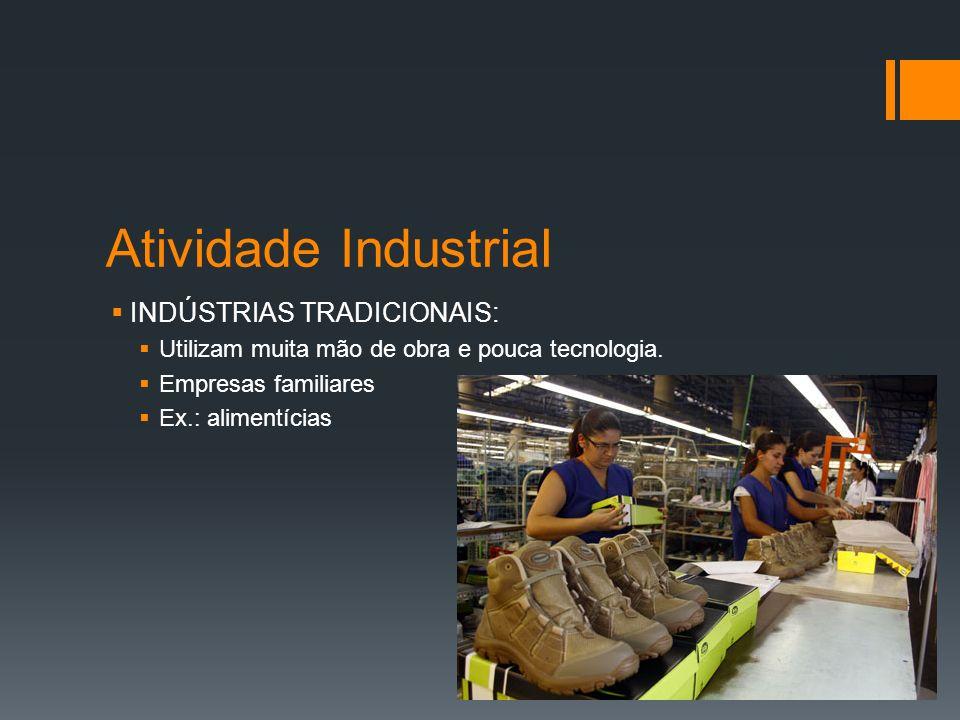 Atividade Industrial INDÚSTRIAS DINÂMICAS: Utilizam muita tecnologia e dinheiro.