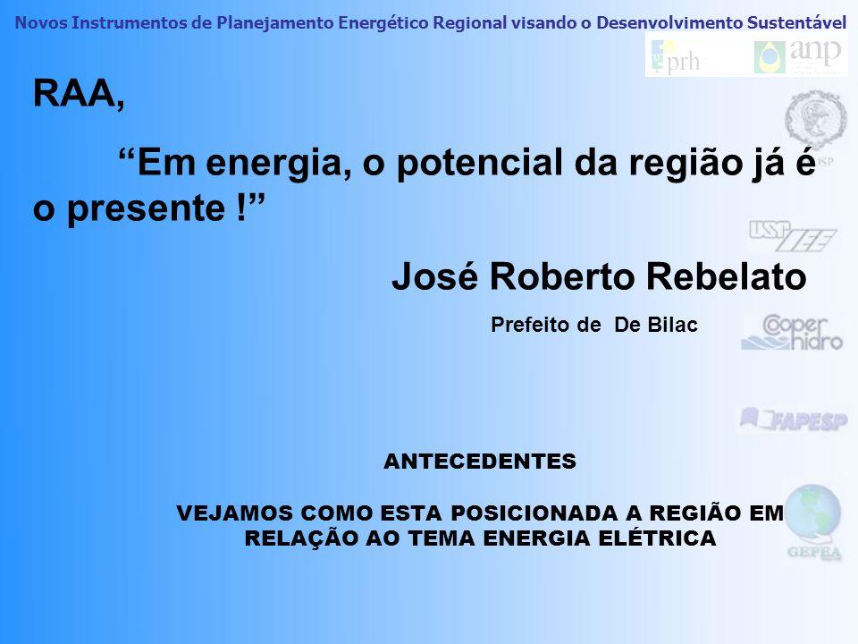 Novos Instrumentos de Planejamento Energético Regional visando o Desenvolvimento Sustentável 10 Melhores oportuni dades Sustentá veis COMO FORAM TRATA