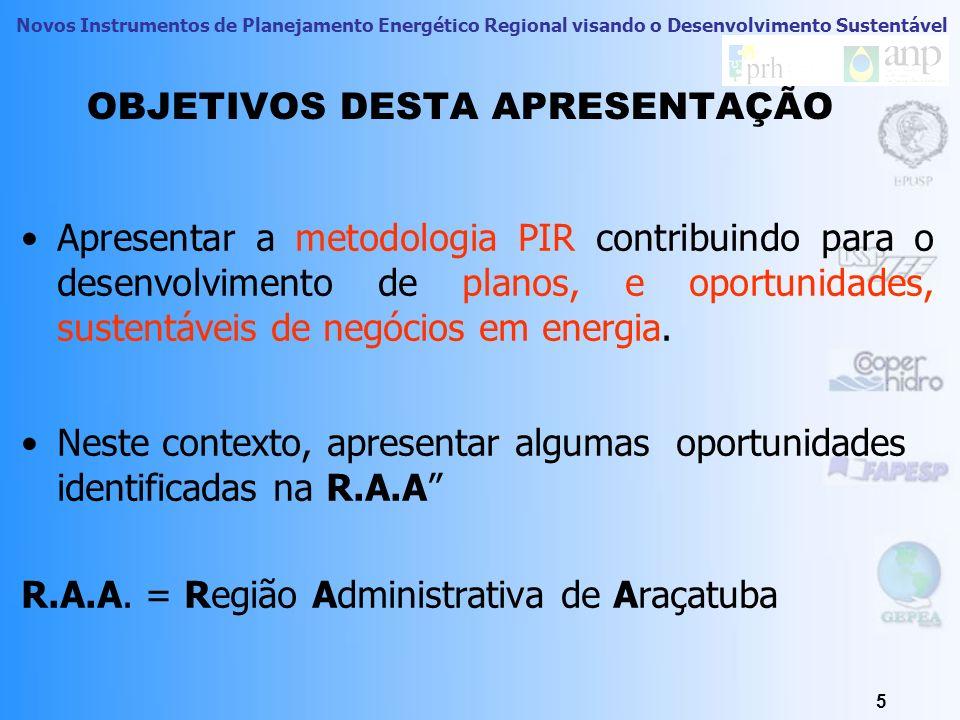 Novos Instrumentos de Planejamento Energético Regional visando o Desenvolvimento Sustentável OS PRÓXIMOS PASSOS 1.Expandir a pesquisa dos Recursos Energéticos do Lado da Oferta (RELO) e do lado da Demanda (RELD), 2.Aprofundar o entendimento das oportunidades associadas a nichos especificos de mercado: Quem são os clientes consumidores.