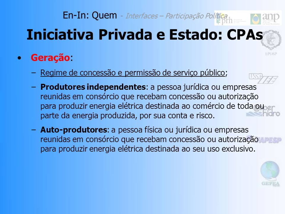 Abordagem de Análise: reunião de CPAs públicas, privadas e de capital misto como categoria de En-In; Similaridade de função, relações com os demais En