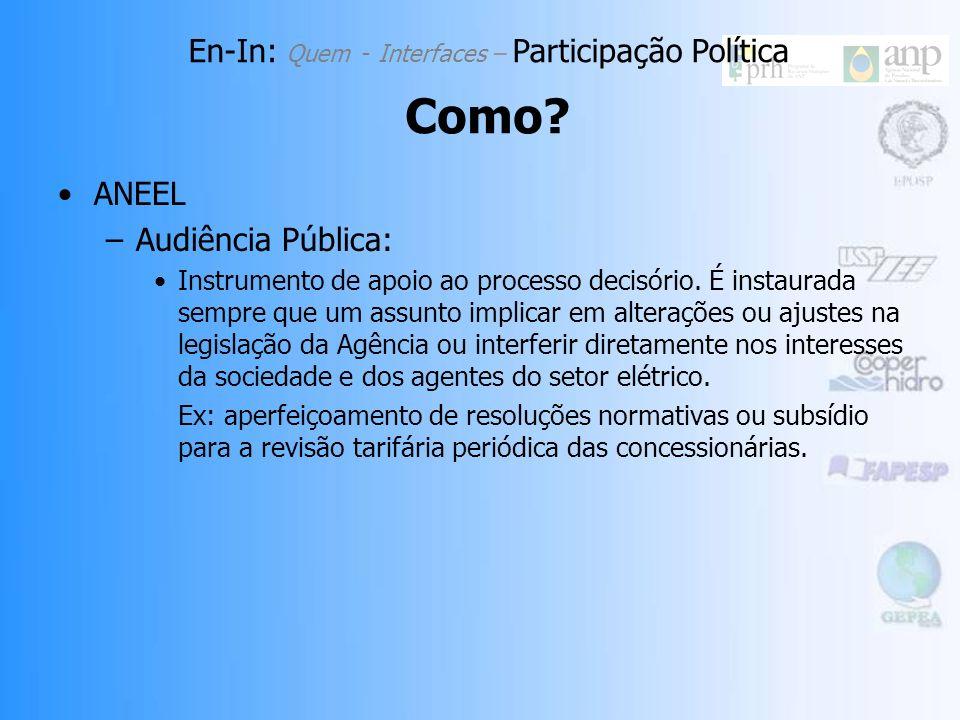 ANEEL –Audiência Pública: Instrumento de apoio ao processo decisório.