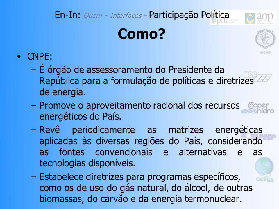 CONAMA: Fonte: Conama, 2007. En-In: Quem - Interfaces – Participação Política Como?