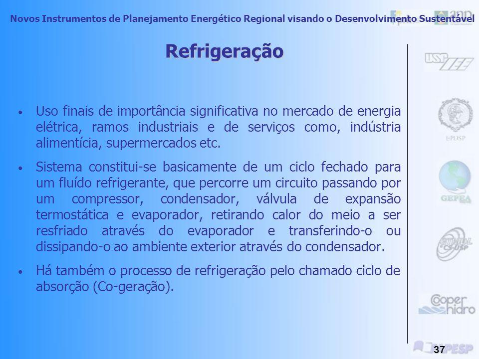 Novos Instrumentos de Planejamento Energético Regional visando o Desenvolvimento Sustentável 36 Força Motriz Consome aproximadamente 2/3 de toda eletr