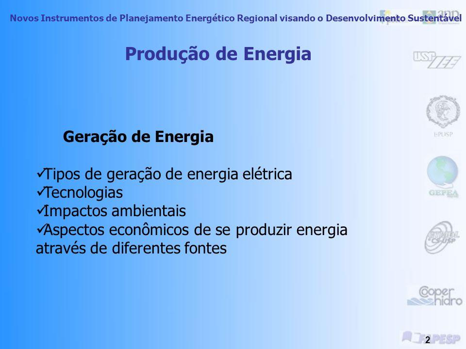 Novos Instrumentos de Planejamento Energético Regional visando o Desenvolvimento Sustentável 22 CARACTERIZAÇÃO DA BIOMASSA Classificação de Combustíveis gerados a partir de biomassa: CombustíveisProdutos e Subprodutos Energéticos Derivados Combustíveis Sólidos Produtos Primários: Subprodutos (Resíduos): - Madeira e outros -Matérias ligno-celuloses -Resíduos da Agricultura -Resíduos da Silvicultura -Resíduos Atividades urbanas Combustíveis Líquidos Fermentação Pirólise Liquefação Etanol Metanol Etc.