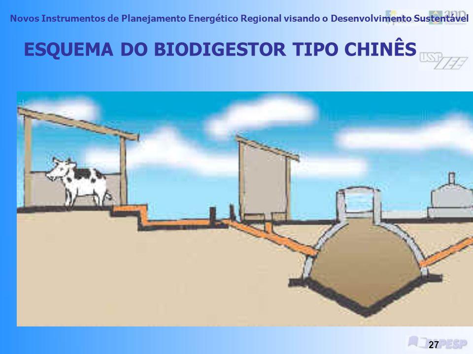 Novos Instrumentos de Planejamento Energético Regional visando o Desenvolvimento Sustentável 26 Processo de Combustão ou Queima Direta Biodigestão- Bi