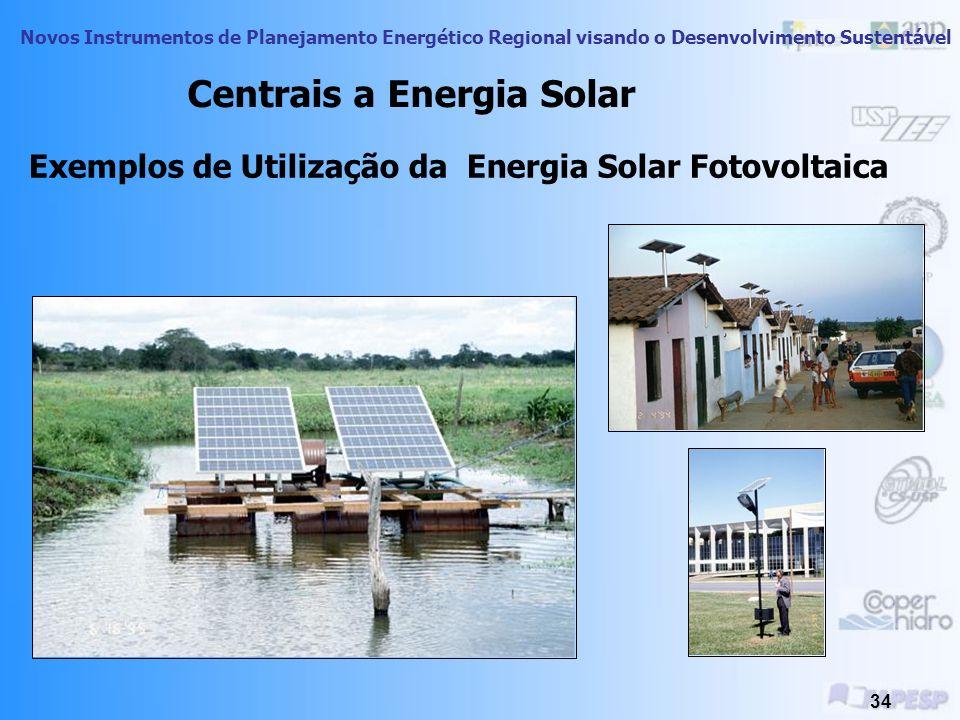 Novos Instrumentos de Planejamento Energético Regional visando o Desenvolvimento Sustentável 33 A produção de energia elétrica a partir da energia sol