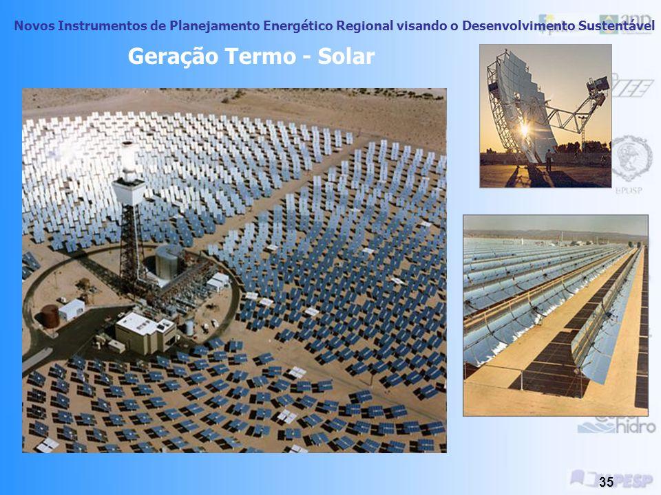 Novos Instrumentos de Planejamento Energético Regional visando o Desenvolvimento Sustentável 34 Exemplos de Utilização da Energia Solar Fotovoltaica C