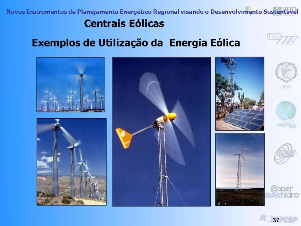 Novos Instrumentos de Planejamento Energético Regional visando o Desenvolvimento Sustentável 36 O conhecimento da velocidade média do vento é de funda