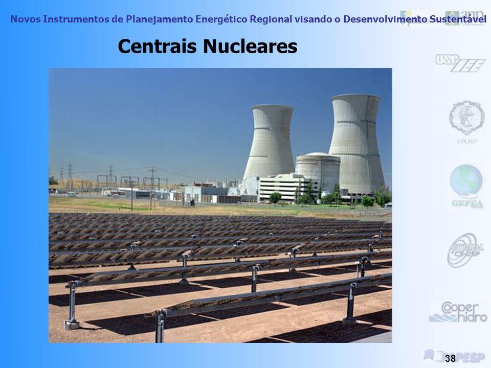 Novos Instrumentos de Planejamento Energético Regional visando o Desenvolvimento Sustentável 37 Exemplos de Utilização da Energia Eólica Centrais Eóli