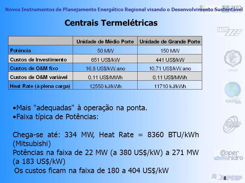Novos Instrumentos de Planejamento Energético Regional visando o Desenvolvimento Sustentável 38 Centrais Nucleares