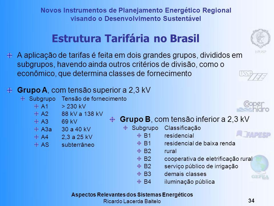 Novos Instrumentos de Planejamento Energético Regional visando o Desenvolvimento Sustentável Aspectos Relevantes dos Sistemas Energéticos Ricardo Lace