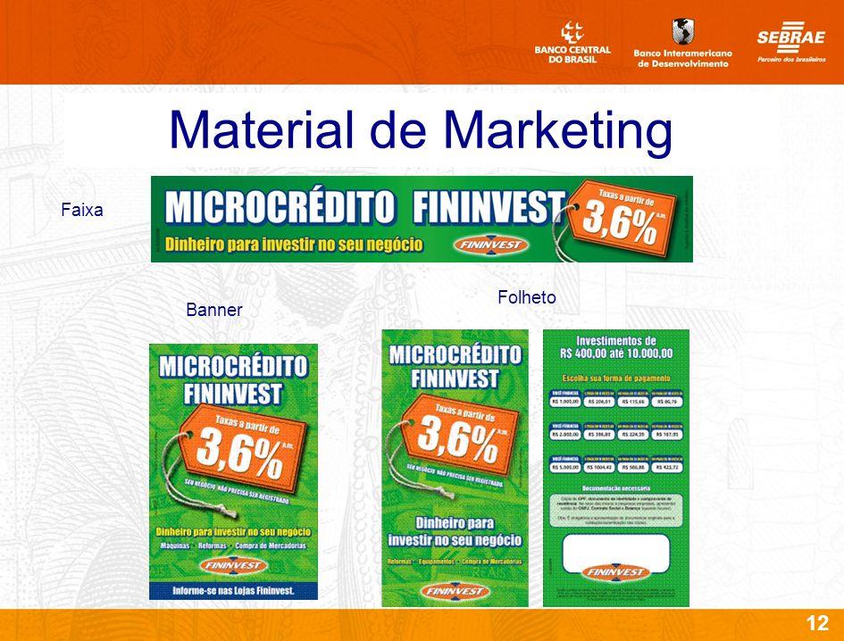 12 Material de Marketing Banner Folheto Faixa
