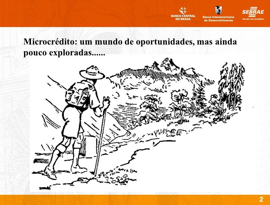 2 Microcrédito: um mundo de oportunidades, mas ainda pouco exploradas......