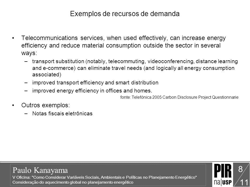 Paulo Kanayama V Oficina: Como Considerar Variáveis Sociais, Ambientais e Políticas no Planejamento Energético Consideração do aquecimento global no planejamento energético 11 9 Análise de impactos ambientais Empresa ou Indústria Consumo energético Consumo de água Consumo de papel e outros materiais Geração de resíduos Emissão de gases de efeito estufa Impacto visual A mesma análise pode ser utilizada em uma região administrativa.
