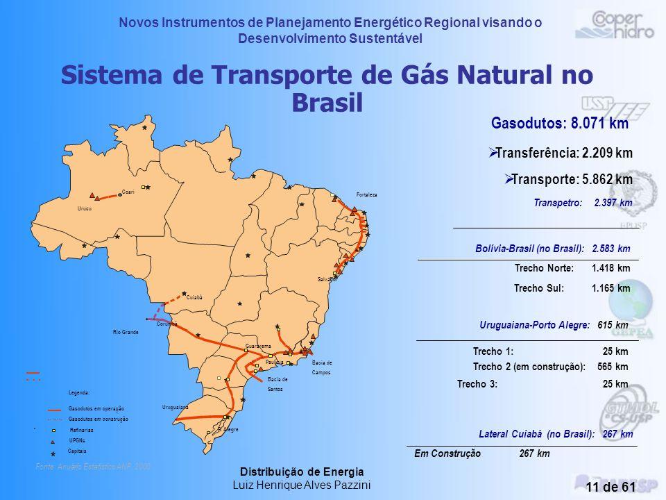 Novos Instrumentos de Planejamento Energético Regional visando o Desenvolvimento Sustentável Distribuição de Energia Luiz Henrique Alves Pazzini 10 de