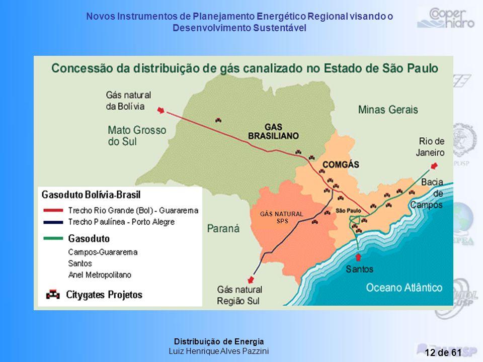 Novos Instrumentos de Planejamento Energético Regional visando o Desenvolvimento Sustentável Distribuição de Energia Luiz Henrique Alves Pazzini 11 de