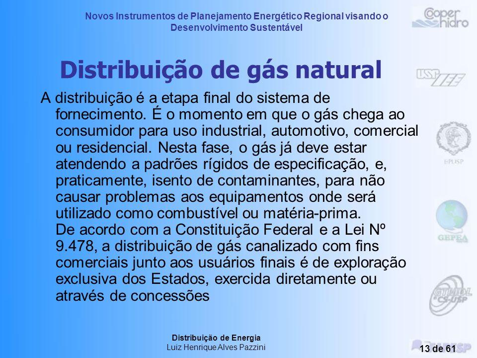 Novos Instrumentos de Planejamento Energético Regional visando o Desenvolvimento Sustentável Distribuição de Energia Luiz Henrique Alves Pazzini 12 de
