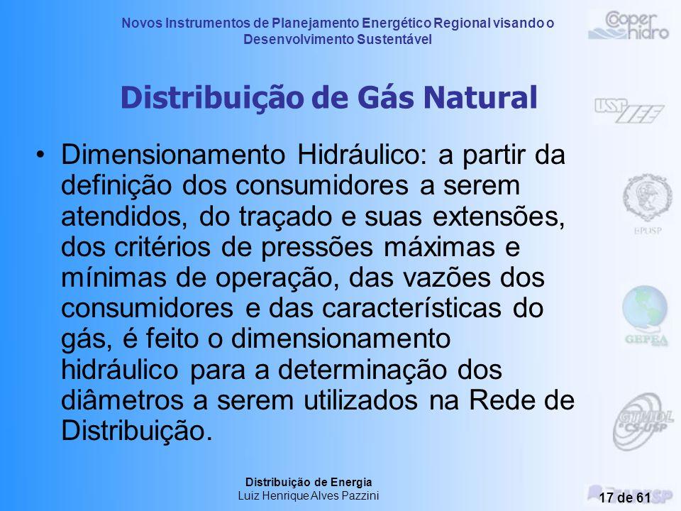 Novos Instrumentos de Planejamento Energético Regional visando o Desenvolvimento Sustentável Distribuição de Energia Luiz Henrique Alves Pazzini 16 de