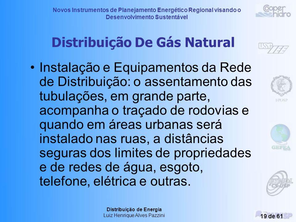 Novos Instrumentos de Planejamento Energético Regional visando o Desenvolvimento Sustentável Distribuição de Energia Luiz Henrique Alves Pazzini 18 de